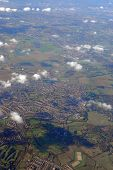 flying above rural england (near heathrow airport, london)