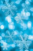 picture of christmas lights  - Ice stars and Christmas lights in blue tone - JPG