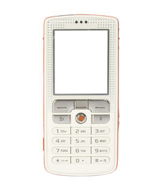picture of mobile-phone  - funky mobile phone with space for writing - JPG