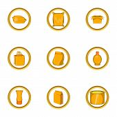 Packing Icon Set. Cartoon Set Of 9 Packing Icons For Web Isolated On White Background poster