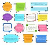 Texting Boxes. Quote Text Design Info Boxes Quotation Bubble Blog Quotes Symbols. Speech Citation Ba poster