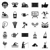 Children Entertainment Icons Set. Simple Set Of 25 Children Entertainment Icons For Web Isolated On  poster