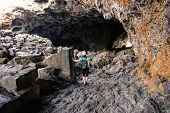 Indian Tunnel Cave In Craters Of The Moon National Monument, Idaho, Usa. The Monument Represents One poster