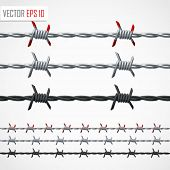 image of barbed wire fence  - Barbed wire - JPG