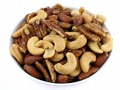picture of mixed nut  - bowl of mixed nuts - JPG