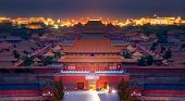 The Forbidden Palace With Morning Sunrise In Beijing City, Peking, China poster