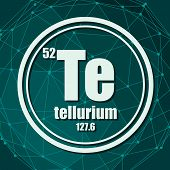 Tellurium Chemical Element. Sign With Atomic Number And Atomic Weight. Chemical Element Of Periodic  poster