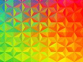 Vector Three Dimensional Special Effect. Optical Illusion Of 3d. Pattern With Polygonal Tiles. Abstr poster
