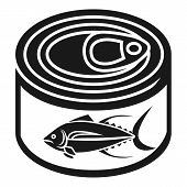 Tuna Tin Can Icon. Simple Illustration Of Tuna Tin Can Vector Icon For Web Design Isolated On White  poster