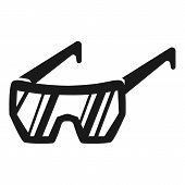 Protective Glasses Icon. Simple Illustration Of Protective Glasses Vector Icon For Web Design Isolat poster
