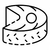 Tuna Fish Piece Icon. Outline Tuna Fish Piece Vector Icon For Web Design Isolated On White Backgroun poster