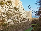 Wall Of The Medieval Crusaders Fortress