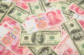Us Dollar And China Yuan Background