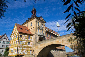 image of regnitz  - The historical town hall of Bamberg - JPG