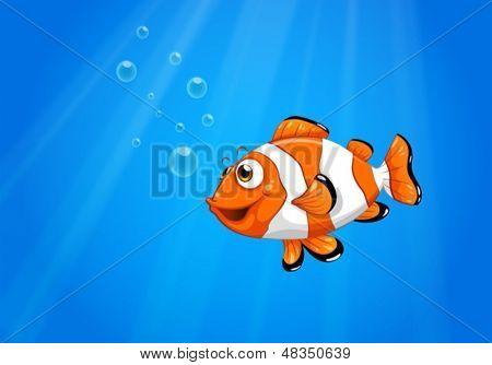 Постер, плакат: Иллюстрация моря с Немо рыба , холст на подрамнике