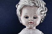 foto of baby doll  - Creepy doll face - JPG
