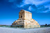 picture of zoroastrianism  - The tomb of Cyrus the Great Pasargad Iran - JPG
