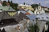 image of banska  - Aerial view of Banska Stiavnica in Slovakia - JPG