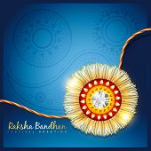 picture of rakshabandhan  - stylish vector hindu rakshabandhan festival background - JPG