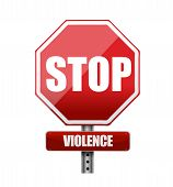 picture of stop fighting  - stop violence illustration design over a white background - JPG