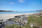 Tidal Beach On Harris, Outer Hebrides Of Scotland