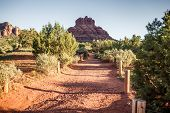 Sedona at the foot of mountains, USA