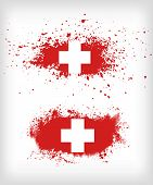 picture of flag confederate  - Grunge ink splattered flag of Switzerland vectors - JPG