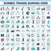 pic of logistics  - set of 100 business icons - JPG