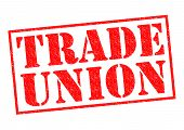 stock photo of higher power  - TRADE UNION red Rubber Stamp over a white background - JPG
