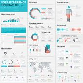 foto of experiments  - Flat stunning user experience infographic vector element set - JPG