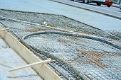 stock photo of reconstruction  - Reconstruction work of road infrastructure - JPG