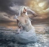 stock photo of goddess  - the forces of nature - JPG