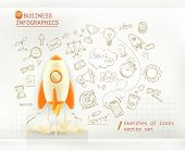 foto of spaceships  - Business infographics - JPG