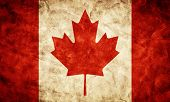 picture of canada maple leaf  - Canada grunge flag - JPG