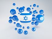 picture of israel israeli jew jewish  - National flag of israel on sphere - JPG