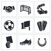 pic of offside  - Soccer vector icon collection on a white background - JPG