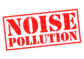 picture of noise pollution  - NOISE POLLUTION red Rubber Stamp over a white background - JPG