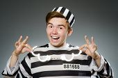 foto of inmate  - Prison inmate in funny concept - JPG