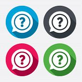 pic of query  - Question mark sign icon - JPG