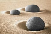stock photo of spiritual  - zen garden meditation stones for relaxation balance and harmony in nature - JPG
