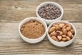 picture of ceramic bowl  - cacao beans - JPG