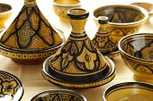 picture of tagine  - Moroccan ceramic tagines on the market - JPG