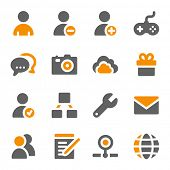 image of internet icon  - Social media web icons set - JPG