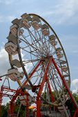 stock photo of ferris-wheel  - ferris wheel at local amusement park in rural Georgia - JPG