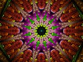pic of higgs boson  - Multicolored fractal ornament computer generated abstract background - JPG
