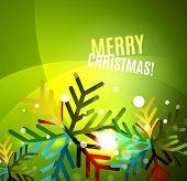 pic of merry chrismas  - Colorful bright Chrismas card - JPG