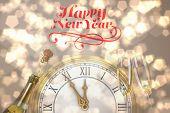 foto of sparkling wine  - Elegant happy new year against sparkling wine - JPG