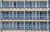 foto of row houses  - Rows of balconies in a new apartment house - JPG