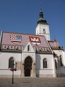 image of armorial-bearings  - The famous church of Saint Marko in Zagreb - JPG