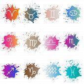stock photo of zodiac  - The signs of the zodiac - JPG